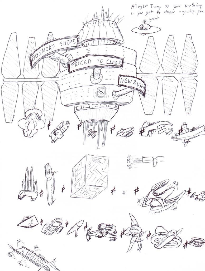 Boknoks used starships by ObsidianOrder