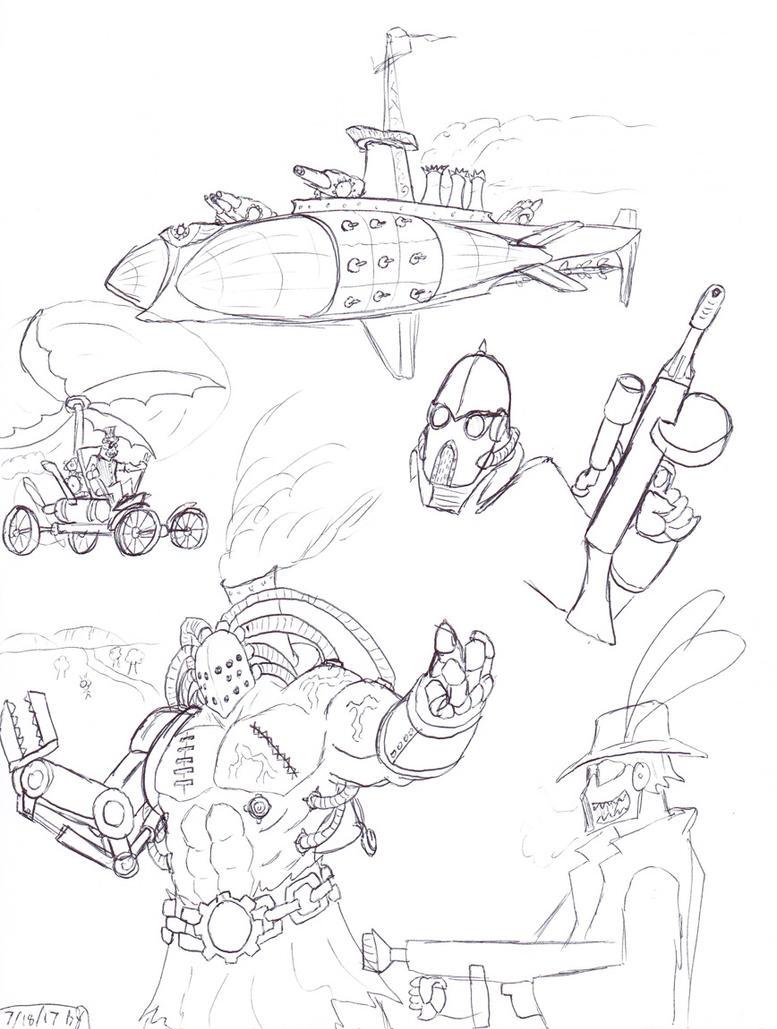 Steampunk stuff by ObsidianOrder