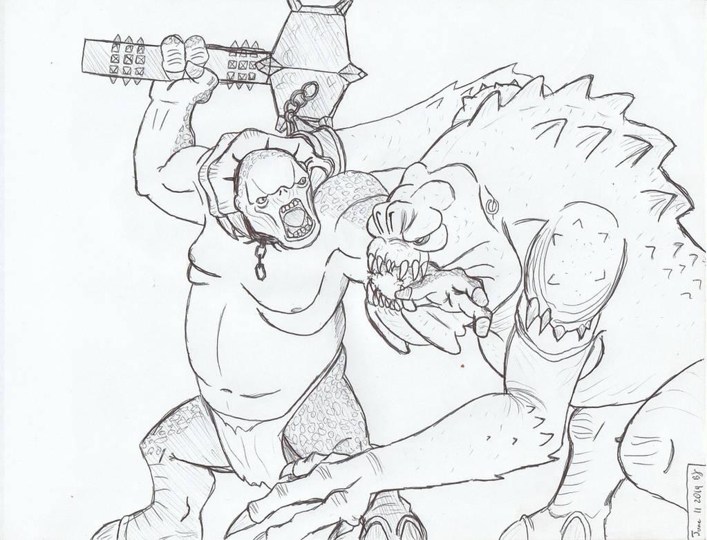 June 11 Request Cave Troll vs Rancor