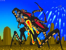 2019 July31 Request Droideka vs Arachnid coloured