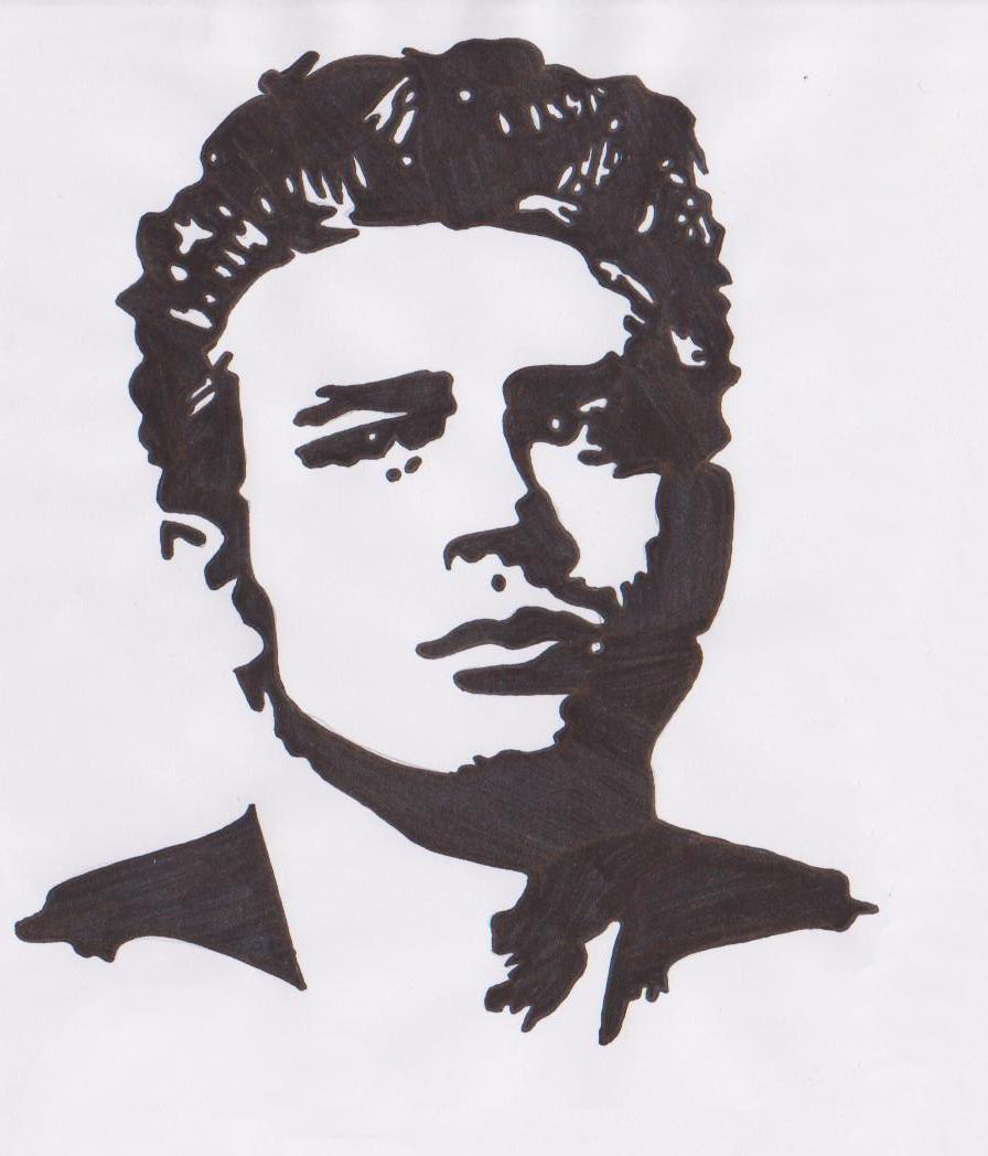 james dean black and white painting - photo #29
