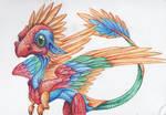 Colourful Quetzalcoatl Dragon
