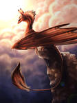 Mountain Dragon by Kyrrahbird
