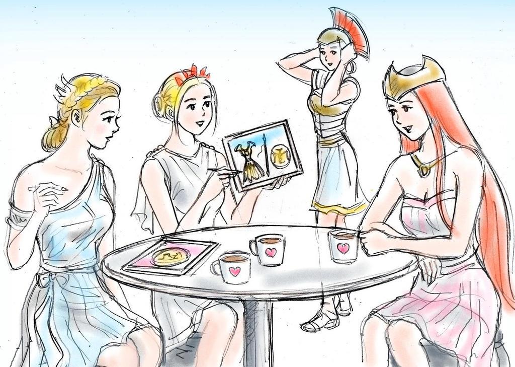 Kerria teatime by YawyawArt