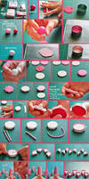 clay pink cake tutorial
