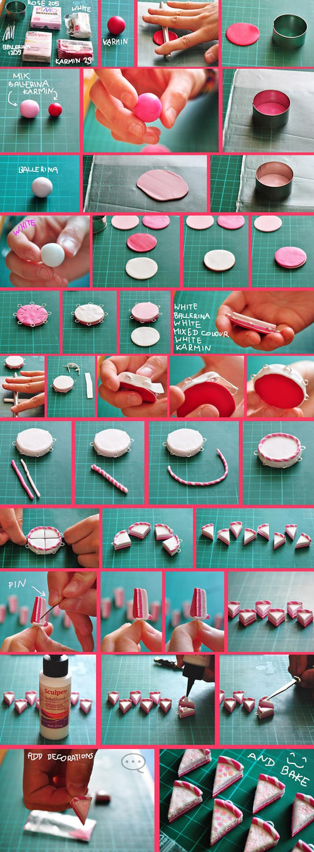 clay pink cake tutorial by cihutka123