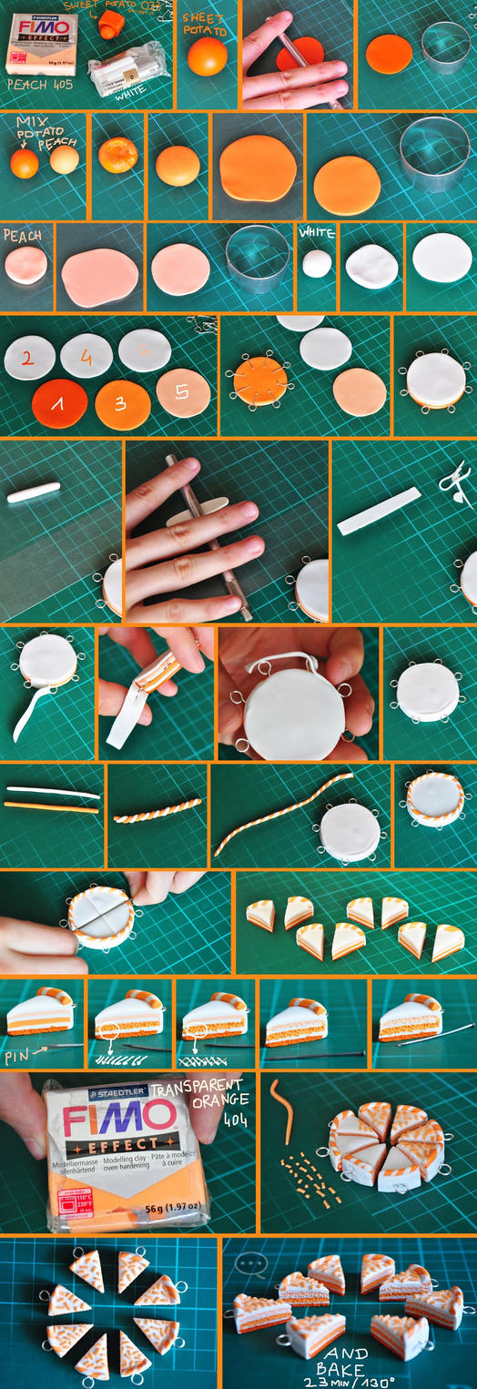 clay orange cake tutorial by cihutka123