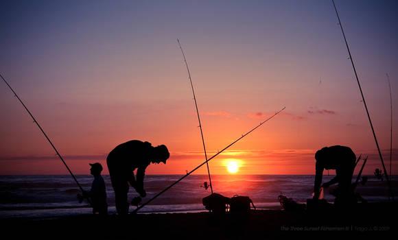 The Three Sunset Fishermen III