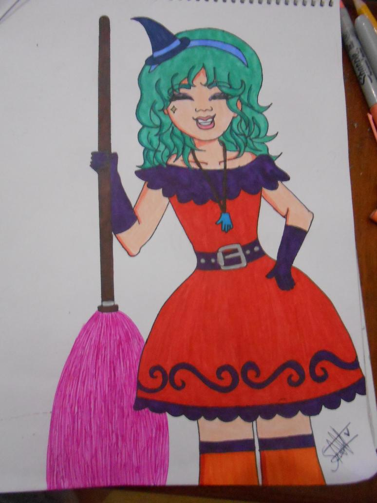 Smiling witch by sakuramochi222