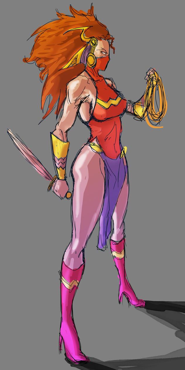 Wonder Woman Redesign by fumeista23
