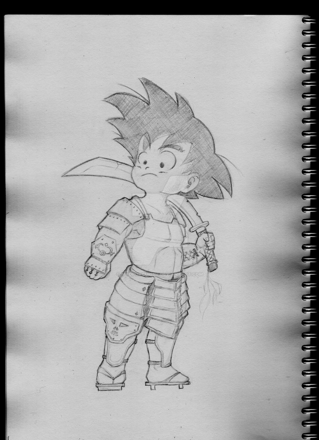 Son Goku The Samurai Warrior By MadPorcupine