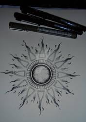 Mandala tattoo design #6