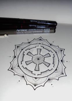 Galactic empire inspired mandala tattoo #7