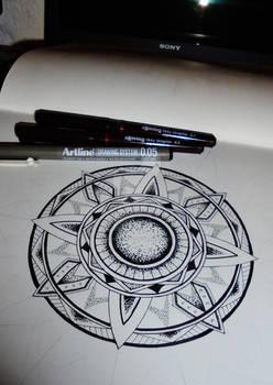 Mandala tattoo design #7