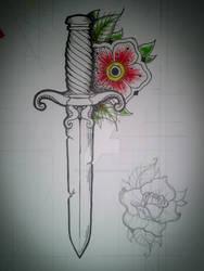 Dagger tattoo ideia