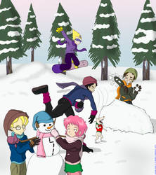 Winter fun by Son-Neko