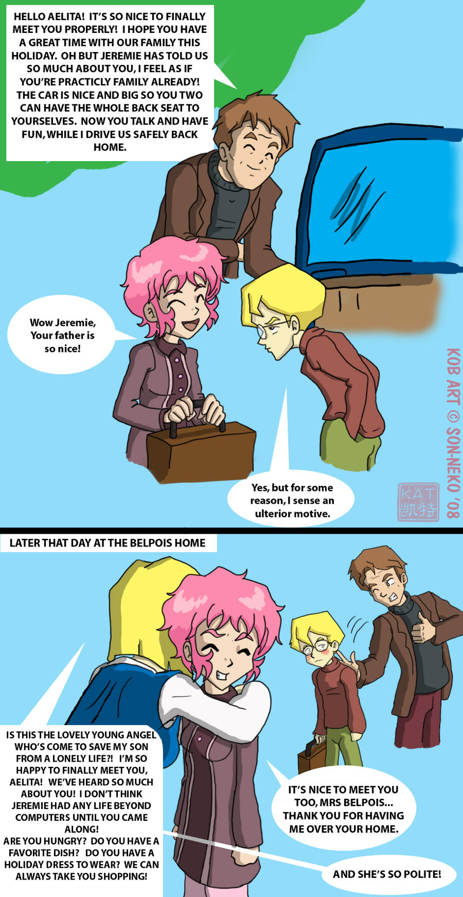 Meet the parents, Aelita by Son-Neko on DeviantArt