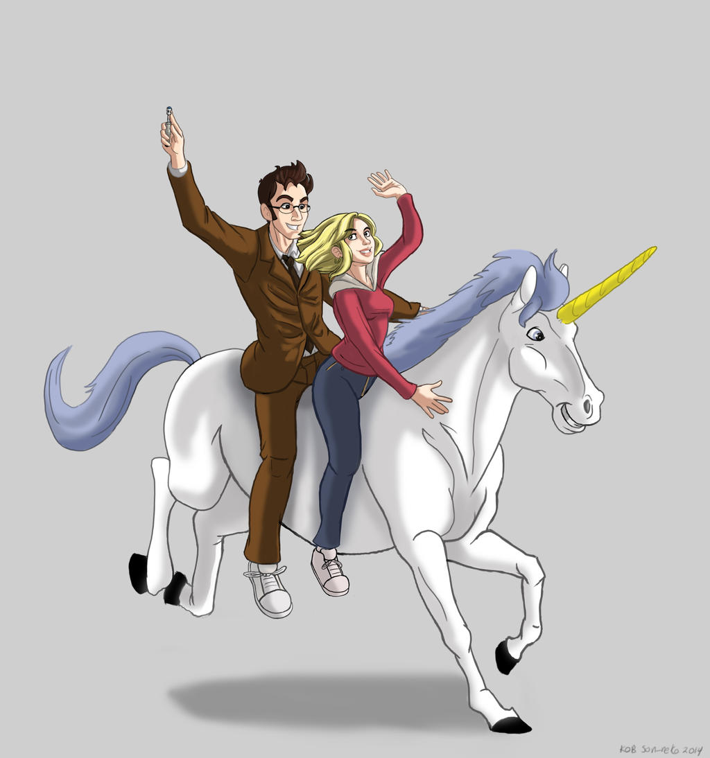 unicorns 2- tenth Doctor Version by Son-Neko