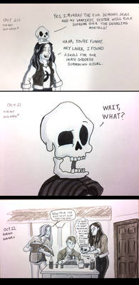 Carmilla and Murray the Evil Demonic Skull