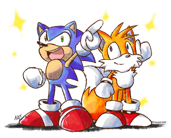 Sonic and Tails by Alex-Wolfy