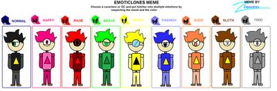Meme-Issac Emotions by Darkspihatsuko124