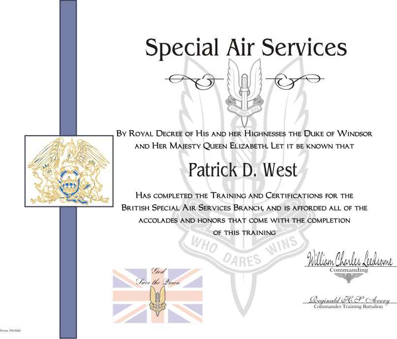 SAS Certificate by Alterverse Games by Taqi125 on DeviantArt