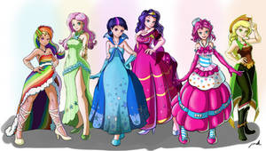 Mane 6 gala dress Humanized!