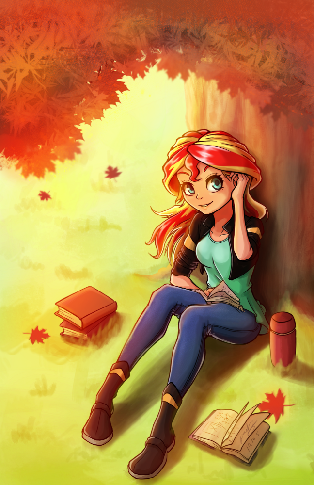 Sunset Shimmer In Autumn By The-Park On