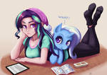 Glimmer and Trixie