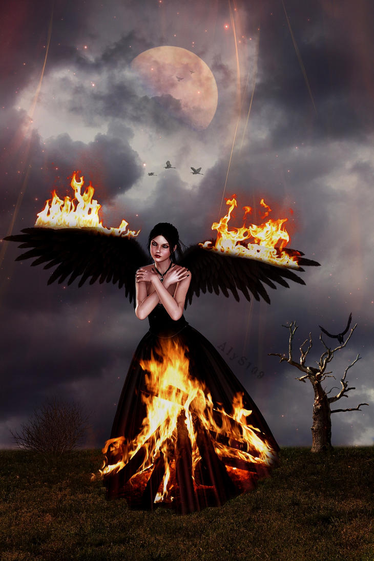 Burning Of Angel Wings by AlyssaStar109