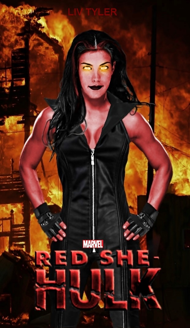 Red She Hulk Movie poster by Dead-Jilly