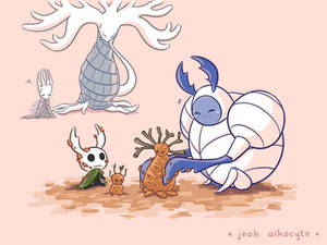 Little Hollow Knight and Ogrim