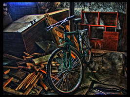 Bicycle in Shed by kiokiliant