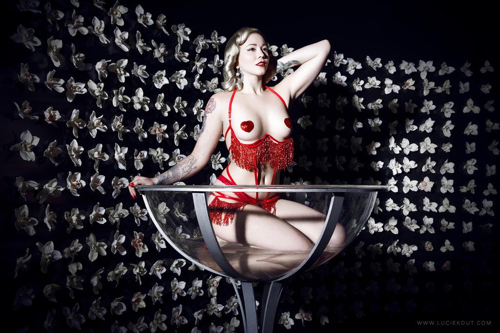 Stephanie van der Strumpf Champagne glass by StephanieStrumpf