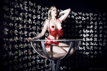 Stephanie van der Strumpf Champagne glass