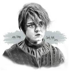 Arya Stark - Maisie Williams Drawing.