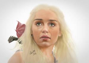 Khaleesi (Emilia Clarke) - Game Of Thrones Drawing