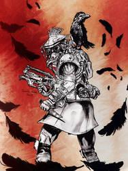 Apex Legends Bloodhound illustration