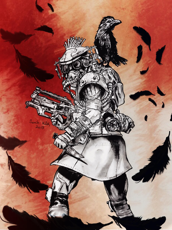 Apex Legends Bloodhound illustration by semihkok on DeviantArt