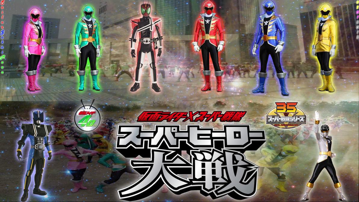 Kamen Rider vs. Super Sentai: Superhero Wars Art by jm511