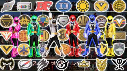 Super Sentai Collage by jm511