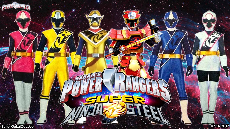 Group of Power Rangers Ninja Steel
