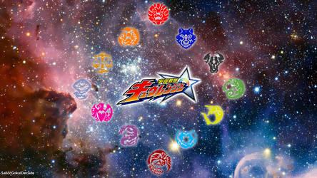 Uchuu Sentai Kyuranger Kyutama Logo Wallpaper by jm511