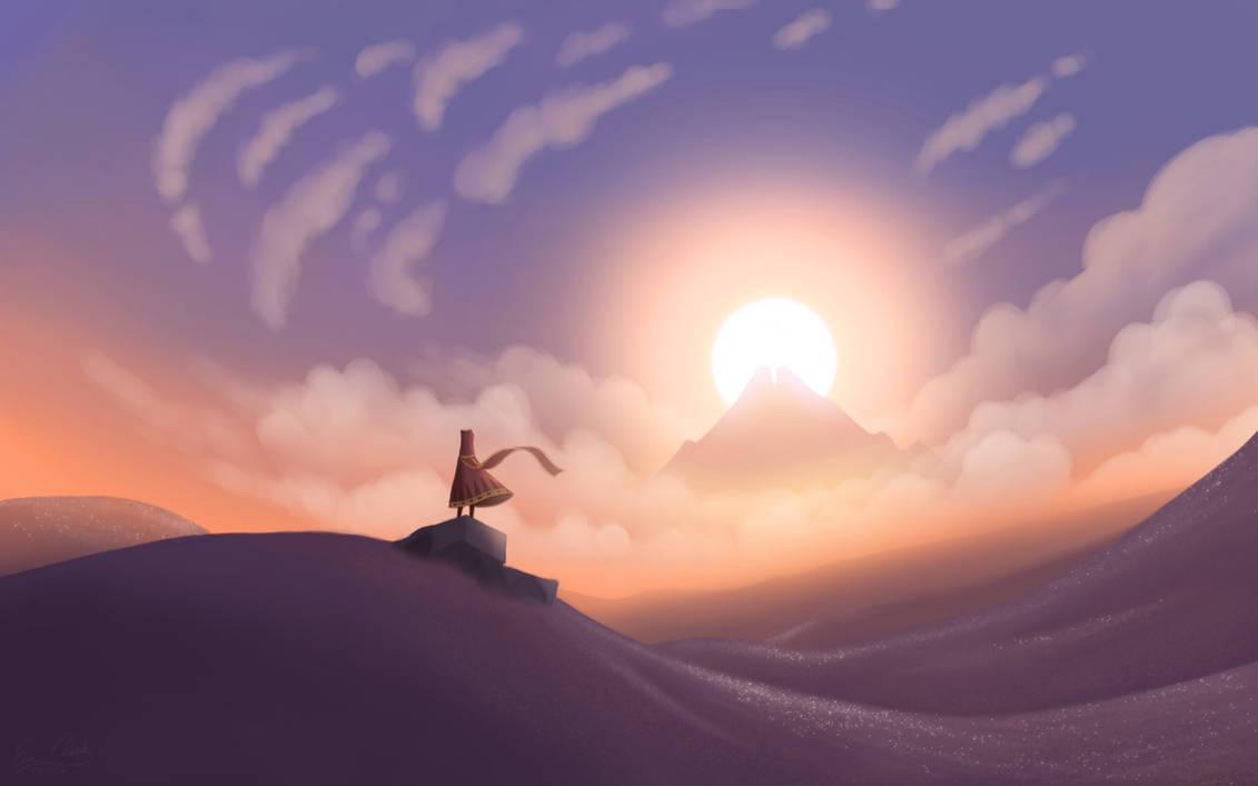 Journey Sunset by Sawuinhaff
