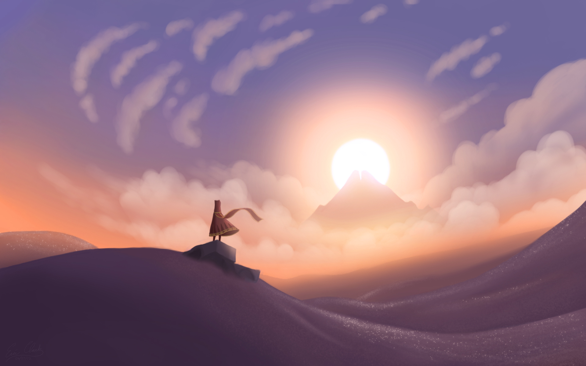 Journey Sunset by Sawuinhaff