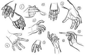 100 Hands Set1 by Sawuinhaff