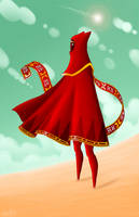Red Traveler by Sawuinhaff