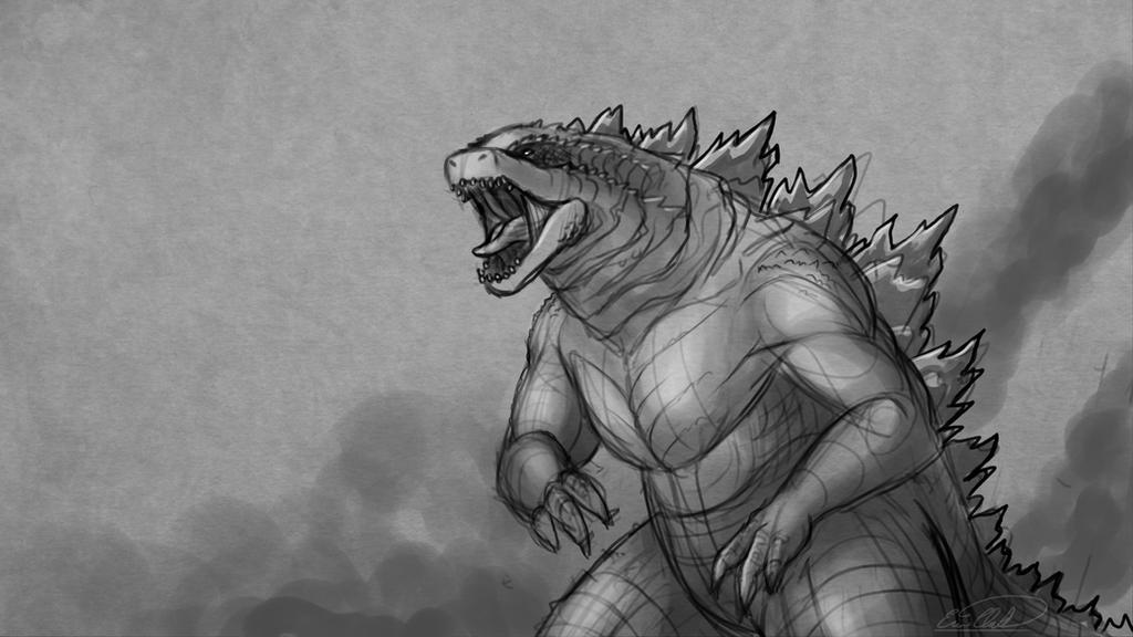 Godzilla Sketch by SawuinhaffGodzilla 2014 Sketch