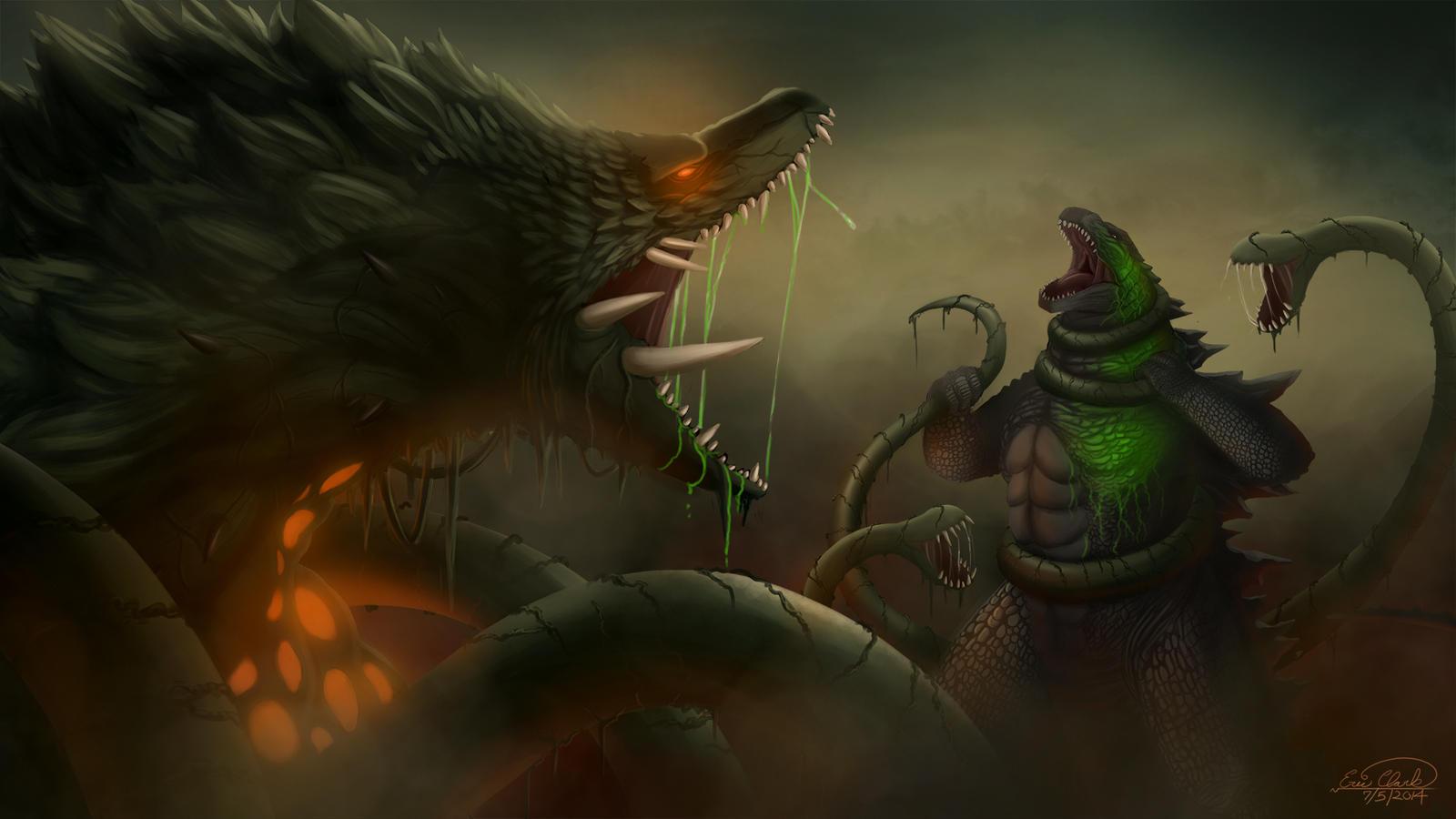 Godzilla Vs Biollante By Sawuinhaff On DeviantArt