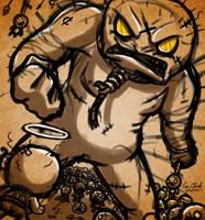 Sketch - Isaac VS. Ultra Greed by Sawuinhaff